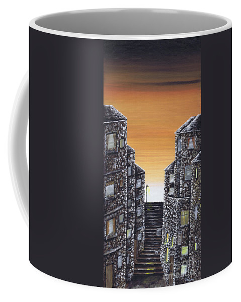 Alley Cat Coffee Mug featuring the painting Alley Cat by Kenneth Clarke