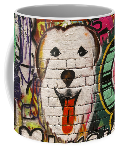Melbourne Australia Street Art Colorful Alley Artwork Painting Streets Alleys City Cities Cityscape Cityscapes Coffee Mug featuring the photograph Alley Colors by Bob Phillips