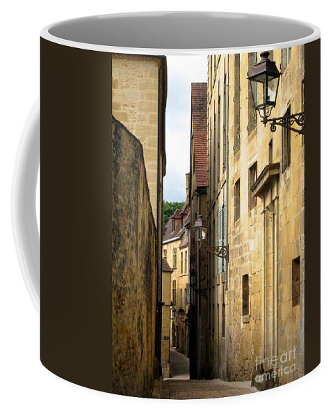 Sarlat France Dordogne Coffee Mug featuring the photograph Alleys Of Sarlat by Suzanne Oesterling