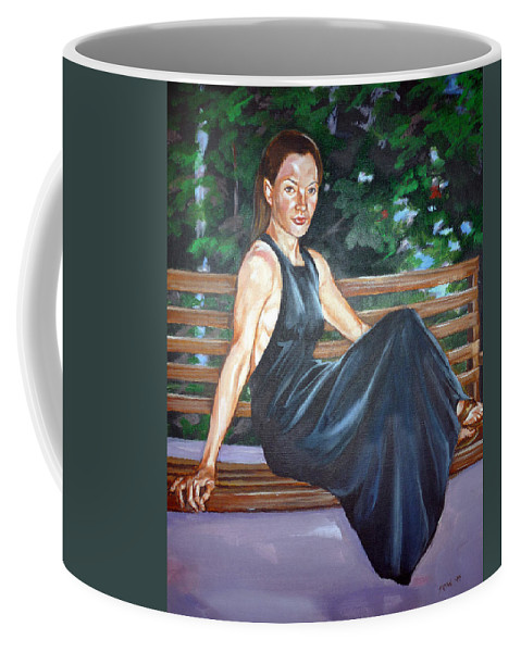 Sexy Coffee Mug featuring the painting Allison Two by Bryan Bustard