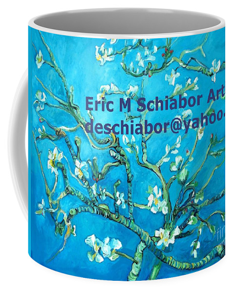Almond Blossom Van Gogh Coffee Mug featuring the painting Almond Blossom Branches by Eric Schiabor