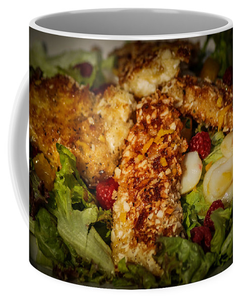 Chicken Coffee Mug featuring the photograph Almond Encrusted Chicken Salad 2 by Ronald Grogan