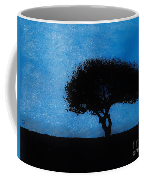 Sunset Coffee Mug featuring the drawing Almost Dark by D Hackett