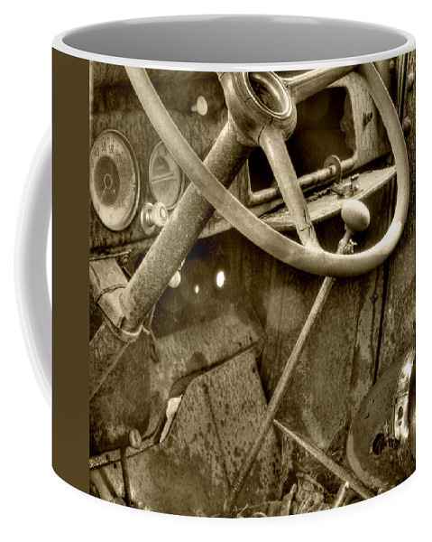 Very Old Chevrolet Coffee Mug featuring the photograph Almost Gone Sepia by Thomas Young