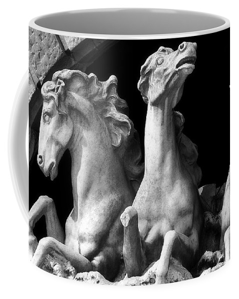Sculpture Coffee Mug featuring the pyrography Almost Perfect by RC DeWinter