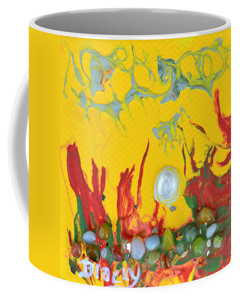 Modern Coffee Mug featuring the mixed media Almost Sundown by Donna Blackhall
