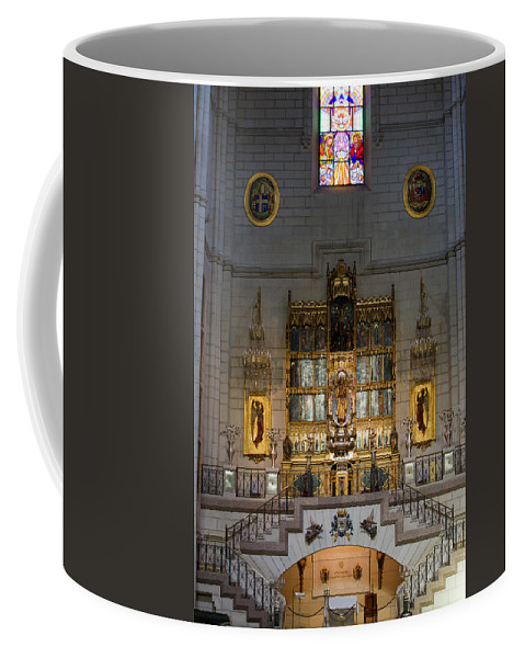 High Coffee Mug featuring the photograph Almudena Cathedral Altar by Artur Bogacki