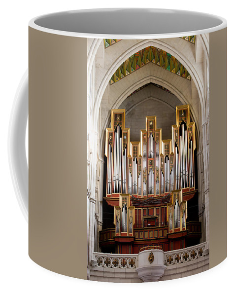 Almudena Coffee Mug featuring the photograph Almudena Cathedral Organ by Artur Bogacki