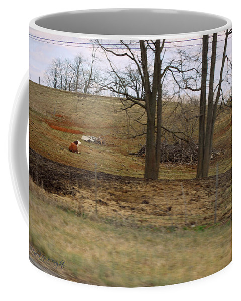 Featured Coffee Mug featuring the photograph Alone With All My Buddies by Paulette B Wright