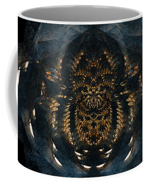 Abstract Coffee Mug featuring the digital art Along Came A Spider by Colette Panaioti