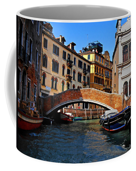 Along The Canals Of Venice Coffee Mug featuring the photograph Along The Canals Of Venice by Bill Cannon