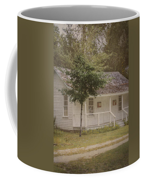 Vintage Coffee Mug featuring the photograph Along The Country Road by Judy Hall-Folde