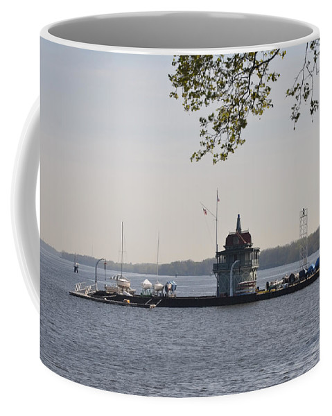 Along Coffee Mug featuring the photograph Along The Delaware River In New Jersey by Bill Cannon