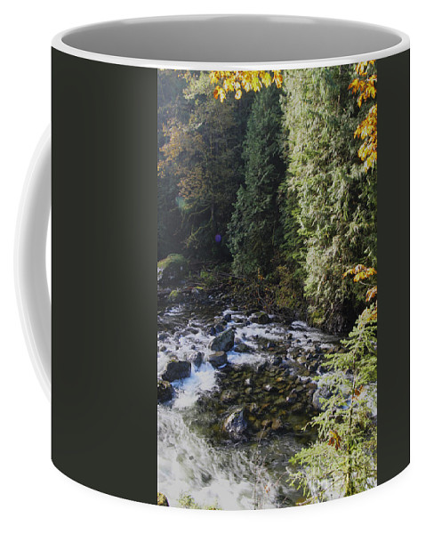 Landscape Coffee Mug featuring the photograph Along The River Bank by Darleen Stry