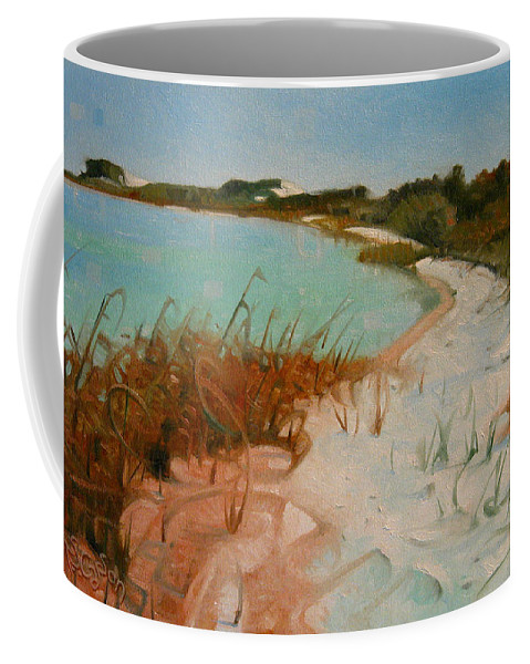 Seashore Coffee Mug featuring the painting Along The Shore by T S Carson