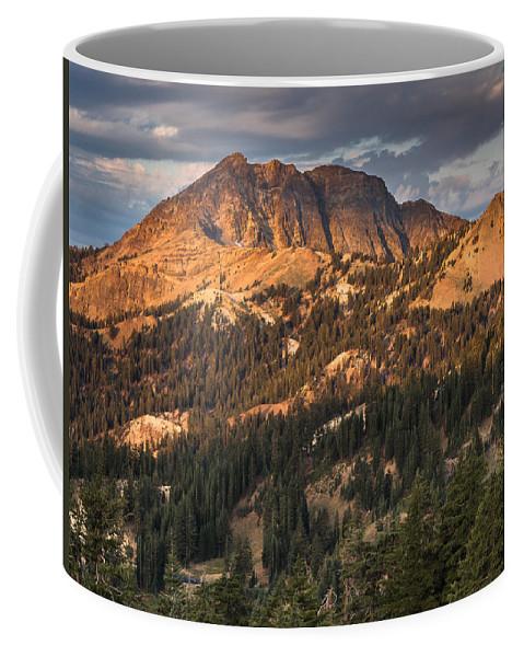 California Coffee Mug featuring the photograph Alpenglow On Brokeoff Mountain by Greg Nyquist