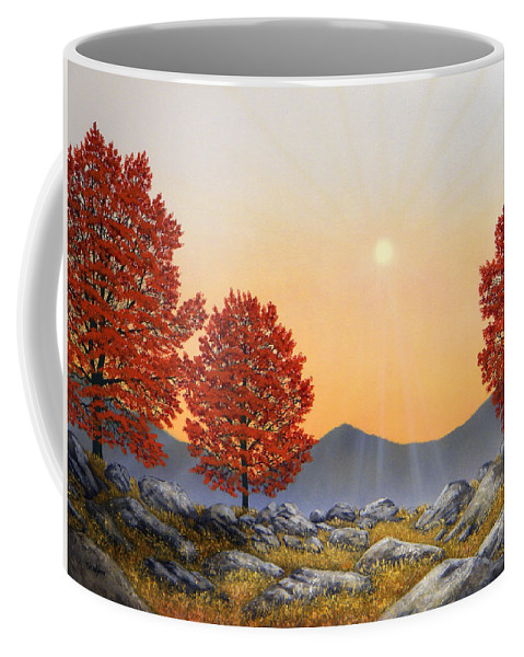 Mountains Coffee Mug featuring the painting Alpine Meadow II by Frank Wilson