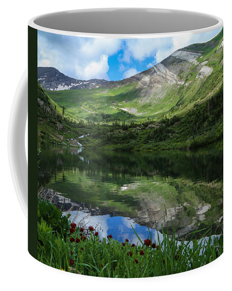 Alpine Lake Coffee Mug featuring the photograph Alpine Reflections by Kevin Buffington