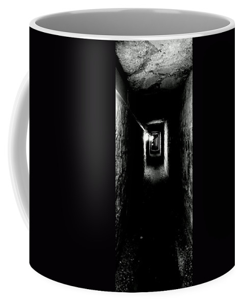 Paris Coffee Mug featuring the photograph Altered Image Of The Catacomb Tunnels Paris France by Richard Rosenshein
