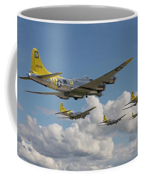 Aircraft Coffee Mug featuring the digital art Aluminium Overcast by Pat Speirs