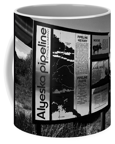 North America Coffee Mug featuring the photograph Alyeska Pipeline by Juergen Weiss