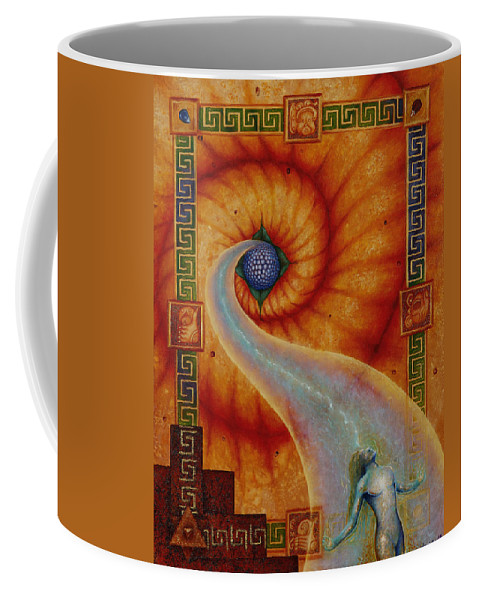 Native American Coffee Mug featuring the painting Amaizeing Grace by Kevin Chasing Wolf Hutchins