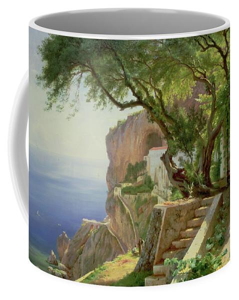 Amalfi Coffee Mug featuring the painting Amalfi by Carl Frederick Aagaard