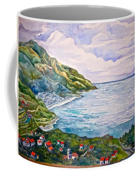 Amalfi Coast Coffee Mug featuring the painting 'amalfitana' by Kandy Cross