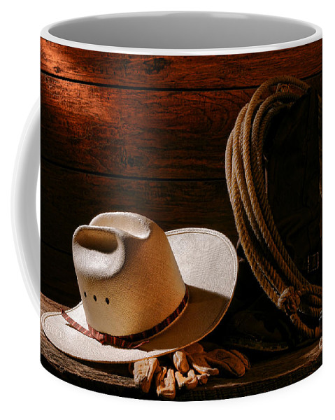 Rodeo Coffee Mug featuring the photograph Amarillo By Morning by Olivier Le Queinec