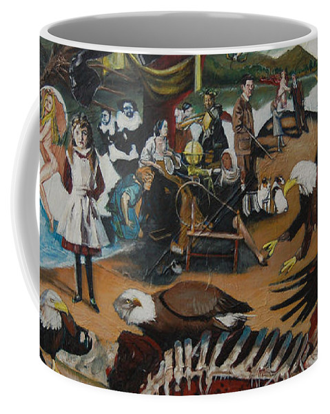 Unfinished Coffee Mug featuring the painting America The Beautiful by Jude Darrien