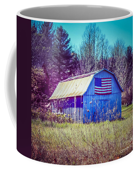 New England Coffee Mug featuring the photograph American Barn by DAC Photography