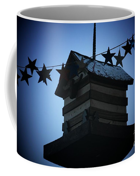 Stars And Stripes Coffee Mug featuring the photograph American Bird House by Brandi Maher