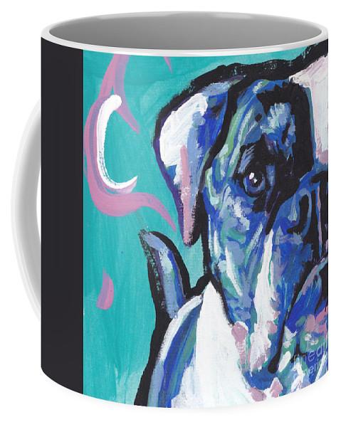 American Bulldog Coffee Mug featuring the painting American Bully Boy by Lea S