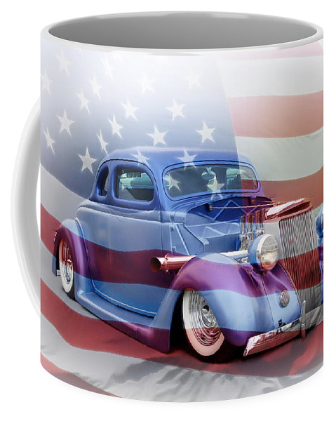 Kustom Kulture Coffee Mug featuring the photograph American Classic by Steve McKinzie