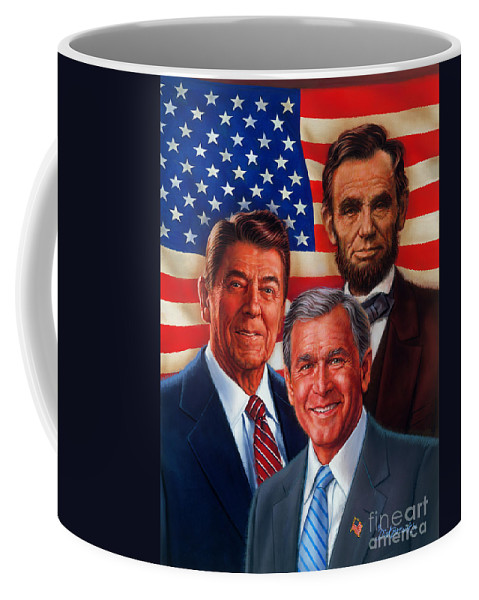 Portrait Coffee Mug featuring the painting American Courage by Dick Bobnick