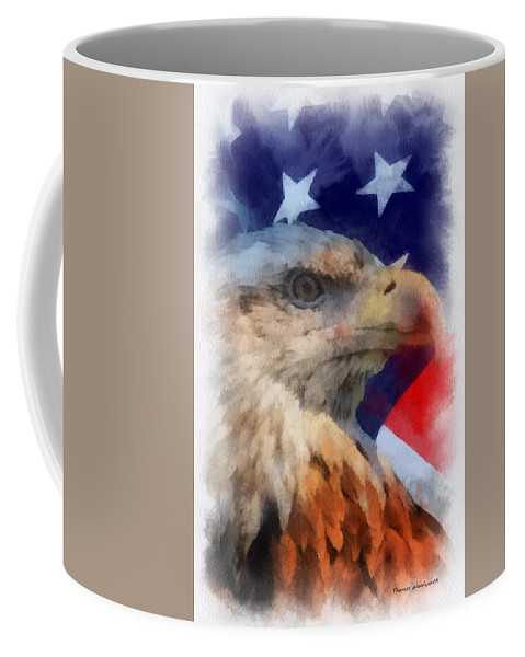 Flag Coffee Mug featuring the photograph American Flag Photo Art 03 by Thomas Woolworth