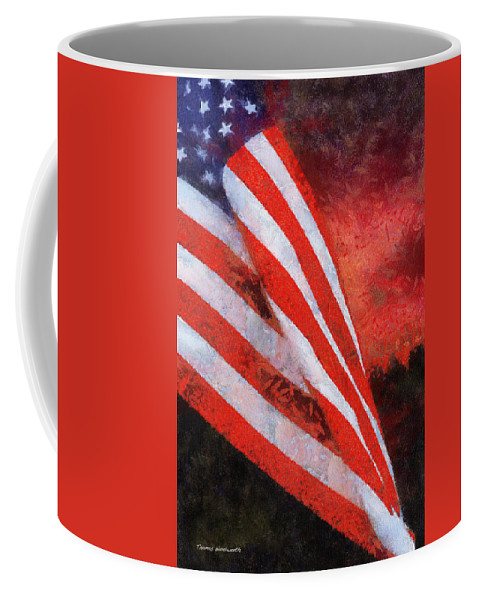 Flag Coffee Mug featuring the photograph American Flag Photo Art 08 by Thomas Woolworth