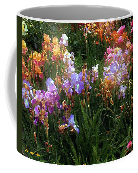 Flowers. Garden Coffee Mug featuring the painting American Giverny by RC DeWinter