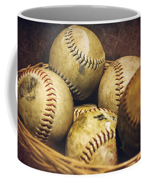 Softball Coffee Mug featuring the photograph American Pastime by Heather Applegate