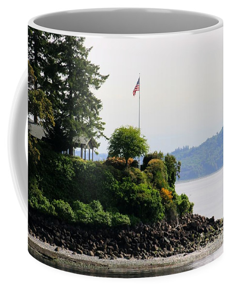 American Flag Coffee Mug featuring the photograph American Pride by Tap On Photo