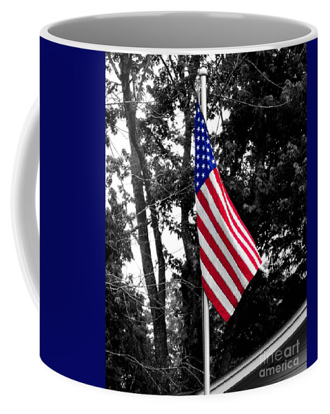 America Coffee Mug featuring the photograph American Spirit by Jai Johnson