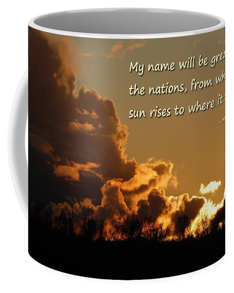 Scripture Coffee Mug featuring the photograph Among Nations by Tara Ellis