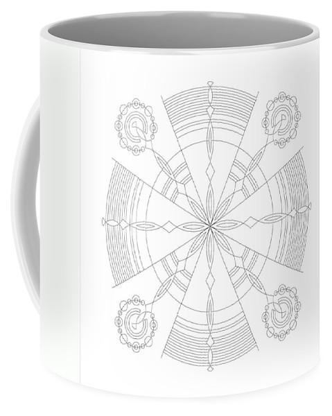 Relief Coffee Mug featuring the digital art Amplitude by DB Artist