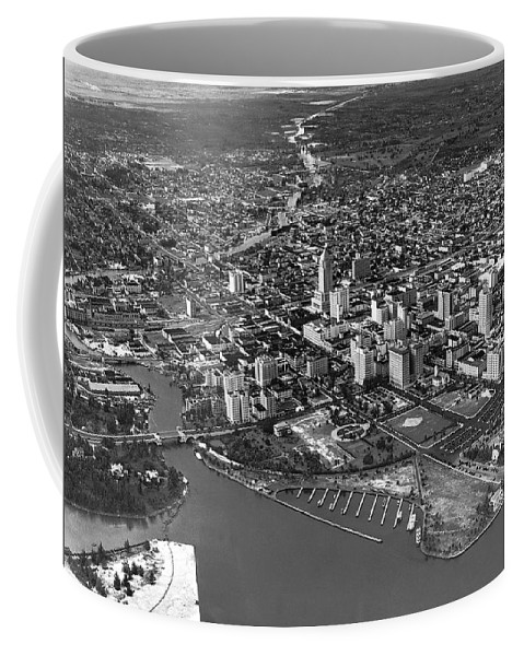1934 Coffee Mug featuring the photograph An Aerial View Of Miami by Underwood & Underwood