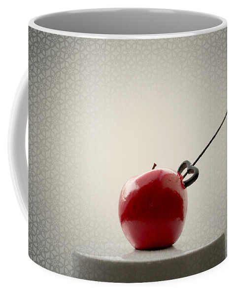 Autumn Coffee Mug featuring the photograph An Apple by Heike Hultsch