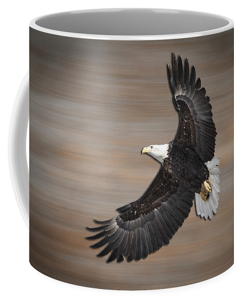 American Bald Eagle Coffee Mug featuring the photograph An Artistic Presentation Of The American Bald Eagle by Thomas Young