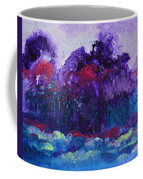 Evening Coffee Mug featuring the painting An Evening In Spring by Donna Blackhall