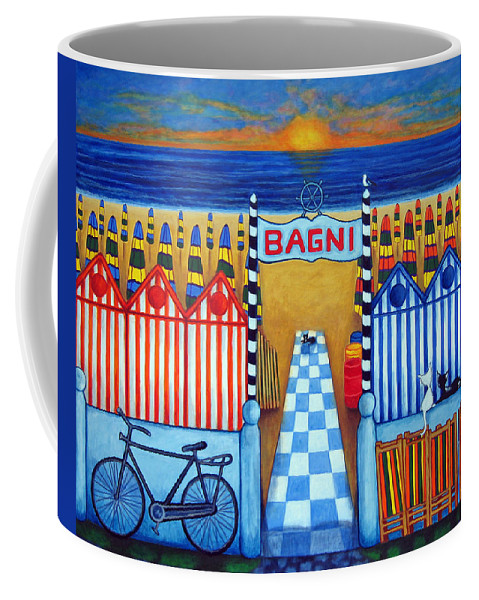 Italy Coffee Mug featuring the painting An Italian Summer's End by Lisa Lorenz