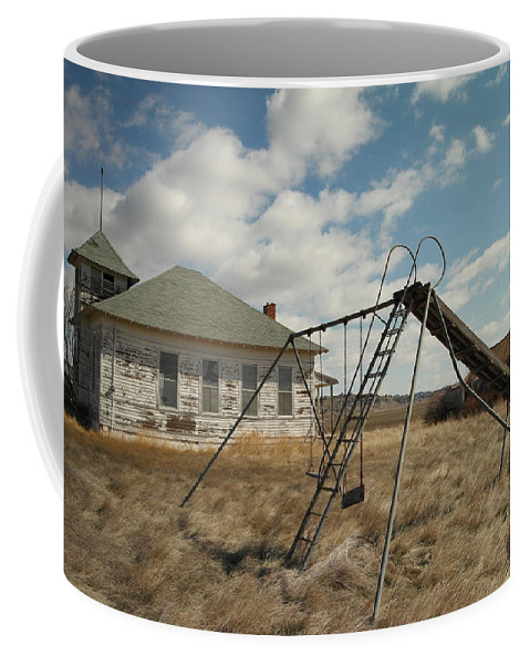 Schools Coffee Mug featuring the photograph An Old School Near Miles City Montana by Jeff Swan