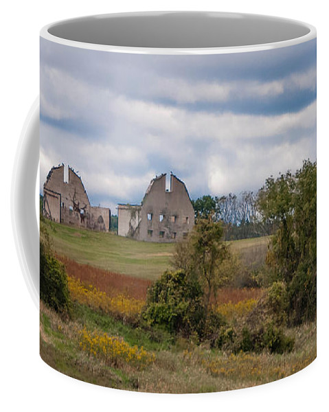 Barn Coffee Mug featuring the photograph An Open Story by Guy Whiteley